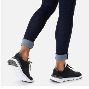 Sorel Women's Kinetic lite Lace Sneaker Black NEW